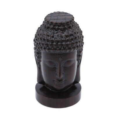 Buddha Head Face Hanging Wall Statue Hand Carved Buddhism WoodenYI