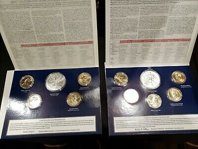 Lot of 2 US Mint Annual Uncirculated Dollar Coin Sets 2013 2016