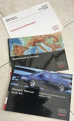 AUDI A4 OWNERS HANDBOOK Car MANUAL Plus 2 Others