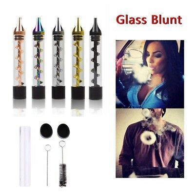 Pipe 2 Series Twisty Glass Blunt Tube Pipe Dry herp Transparent Free ship NEW