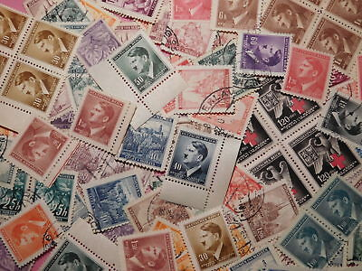 Third reich. BuM stamps mix 200+ pieces. Hitler. Germany. WWII. K305