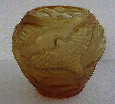 Art Deco Czech Glass Bird Vase