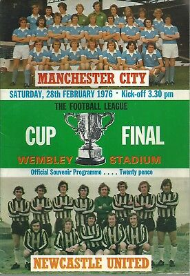 Manchester City V Newcastle United League Cup Final 1976 Matchday Programme