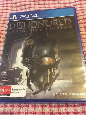 Playstation 4 - PS4 - NEW - Dishonored Definitive Edition – Pal  MA 15+