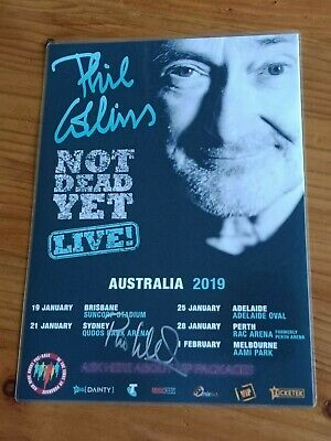 PHIL COLLINS - 2019 'Not Dead Yet' Australia Tour SIGNED AUTOGRAPHED Tour Poster