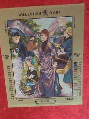 "Collection D'Art tapestry canvas only - RENOIR- ""Going Shopping'"
