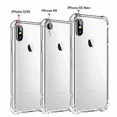 Protective Bumper Case For iPhone XS Max XR X Clear Transparent Shockproof Cover
