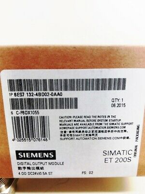 **NEW** Siemens 6ES7132-4BD02-0AA0 , SIMATIC DP, 5 modules for ET 200S