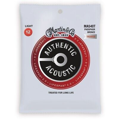 Martin Authentic Acoustic Lifespan 2.0 Treated Guitar Strings - 92/8  12 - 54