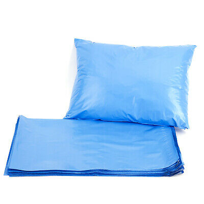 """50x Strong Blue Mailing Post Mail Postal Bags Poly Postage Self Seal Plain 9x12"""""""
