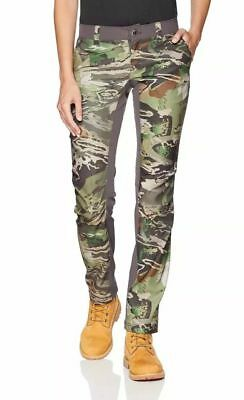 8b410165effd0 $90 Under Armour Fletching Hunting Pants Women's Sz 2 Forest Camo  1293111-940