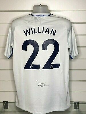 90b3081f9 CHELSEA AWAY SHIRT Signed By 16 Includes Fabregas Hazard ...