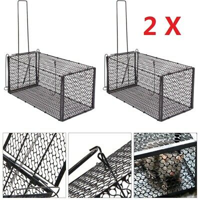 2 Rat Cage Trap Humane Live Animal Catcher No Poison Pest Control Indoor Outdoor