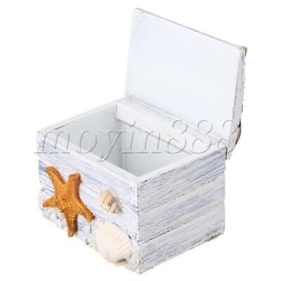 Mediterranean Handmade Wooden Jewelry Box for Necklaces Ring Souvenir
