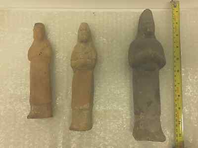 3 X Ancient Chinese Tang dynasty Guardian/Attendant Tomb Figure 7th/9th