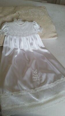 Baby Christening Gown (White hand made to fit a new born baby)