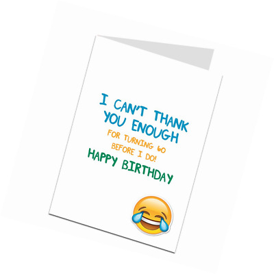 Funny 60th Birthday Card for Men Women 60 Today Joke Humour