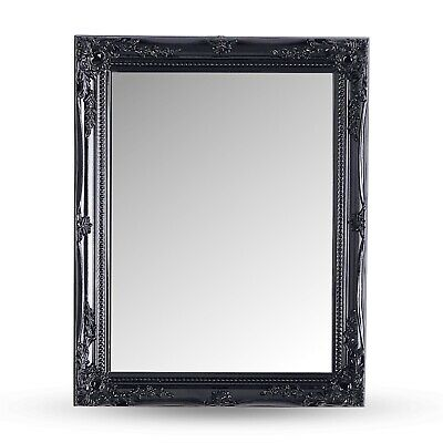 BAROQUE WALL MIRROR | black, carved wood | antique, baroque style