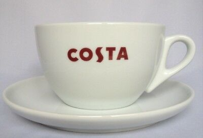 Costa Coffee Medium Medio Cup With Handle & Saucer, Great Gift