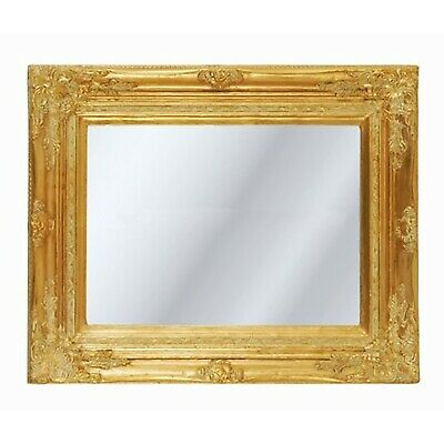 BAROQUE PICTURE FRAME    antique gold   carved wood with mirror, baroque style