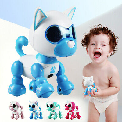 Interactive Robot Dog Electronic Toy Touch Singing Barking Shaking For Kids Pink