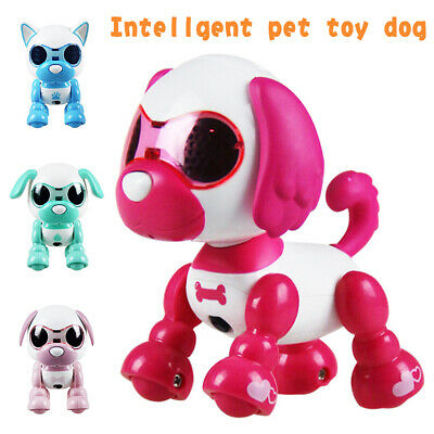 Interactive Robot Dog Electronic Toy Touch Singing Barking Shaking For Kids Rose
