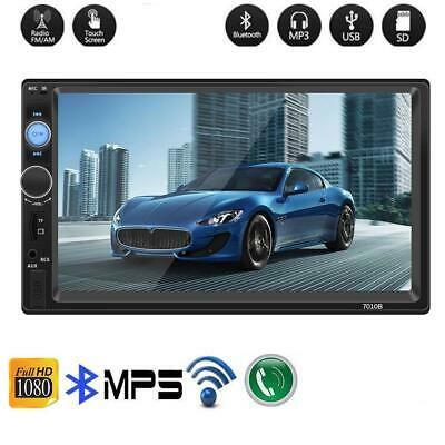 """7"""" 2 DIN Car Bluetooth Stereo Radio Car MP5 Player Touch Screen GPS Navigation"""