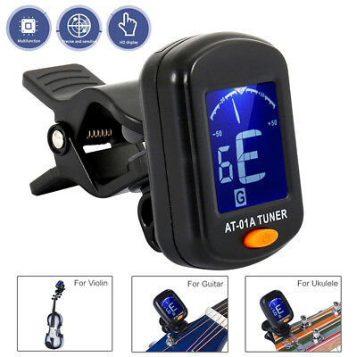 LCD Clip-on Electronic Digital Guitar Tuner for Chromatic Violin Ukulele Violin