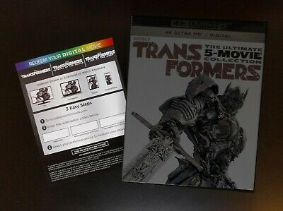 Transformers 5-Movie Collection 4K Digital HD Code (redeems 4K) from UHD Blu-ray