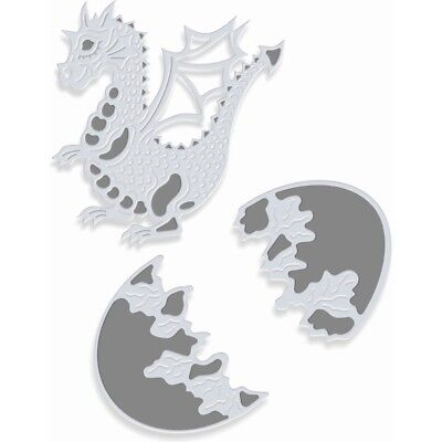 New Sweet Dixie Metal Cutting Fantasy Dies Baby Dragon and Egg