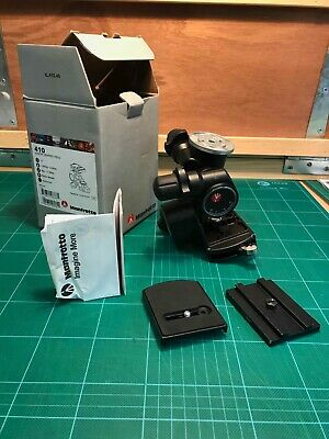 Manfrotto 410 Junior Geared Tripod Head - good condition quick release plates