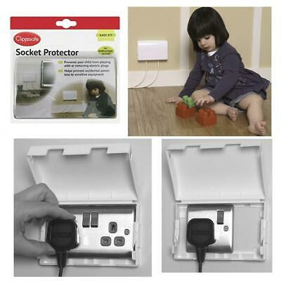 Baby Toddler Clippasafe Single / Double Safety Plug Socket Cover for Home Office