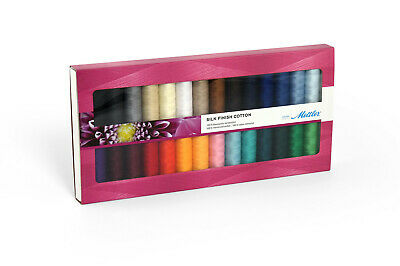 Mettler 100% Cotton Silk Finish Standard 28 Pack Sewing Thread Embroidery Crafts