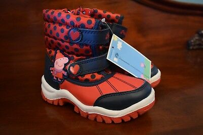 New Marks And Spencer Girls Peppa Pig Snow/Winter Boots Uk Kids 11 Eur 29