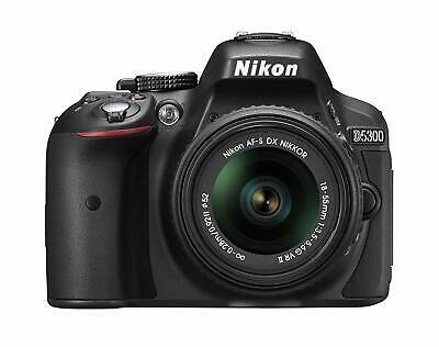 Nikon D5300 Digital Slr Camera 18-55mm F3.5-5.6g Vr Ii Lens Kit Black Japan