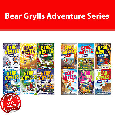 Bear Grylls Complete Adventure series 1-12 books collection set Childrens pack