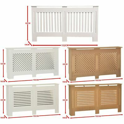 Radiator Cover Large Unfinished White Vertical Horizontal Slats Grill Cross MDF