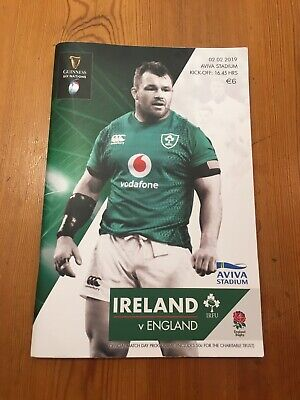 Ireland v England 6 Nations Rugby Programme 2019