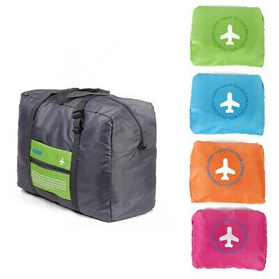 Portable Foldable Travel Luggage Baggage Storage Carry-On Nylon Bag Waterpoof