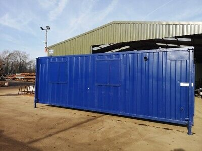 24ft Long 9ft Wide Blue Anti-vandal Welfare Unit / Self-contained / Office / Can