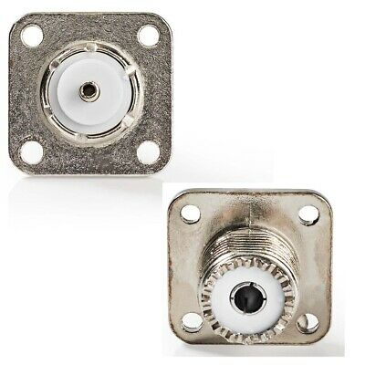 Pack of 2 - PL259 SO239 Female Chassis Mount Socket