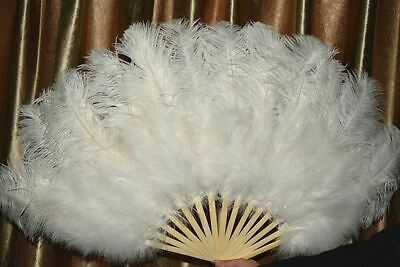 15 oversized ostrich feather fan dancing decoration