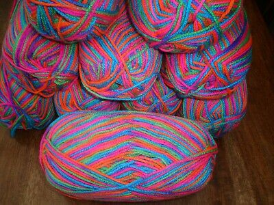 Huge lot of patons fab lovely bright colours  dk knitting yarn 10 x 100g