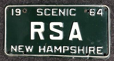 1964 New Hampshire Vanity License Plate RSA NH 64 Revised Statutes Annotated