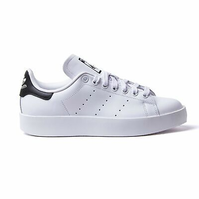 finest selection 8c0d1 cc7d6 Adidas Stan Smith Bianco Nero Scarpe Shoes Sneakers Black Mens Donna Uomo  S75213