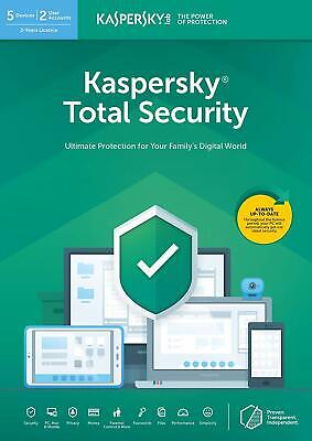 Kaspersky Total Security 2019 3 PC/dispositivos/1 año/a para 2018 Mac Android