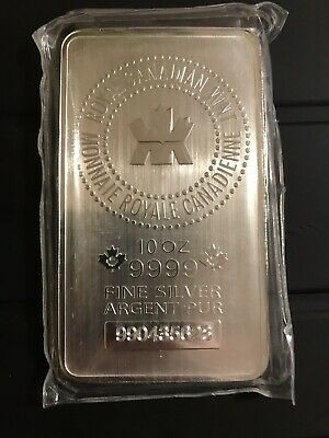 RCM 10 oz .9999 Pure Silver Sealed Bar