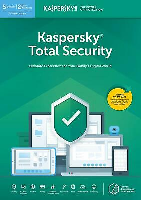 Kaspersky Total Security 2019 5 PC/dispositivos/1 año/a para 2018 Mac Android