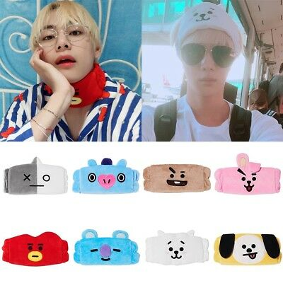 Kpop BTS BT21 Cute Hair Band Tata Chimmy gym Wash Makeup Cleansing Headband NEW