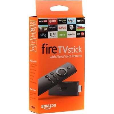 Amazon Fire TV Stick with Alexa Voice Remote 2nd Gen Streaming Media Player NEW